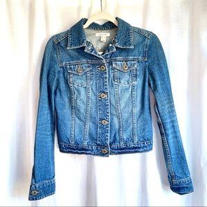 Mango Button Down Blue Denim Jacket
